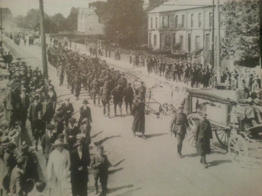 Funeral of General Michael Collins on Western Road, Cork. 1922