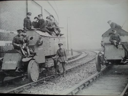 Irish Free State Army members of the Railway Repair & Defence Corps at Cork station