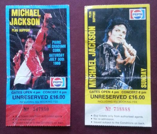 Michael Jackson plays in Cork