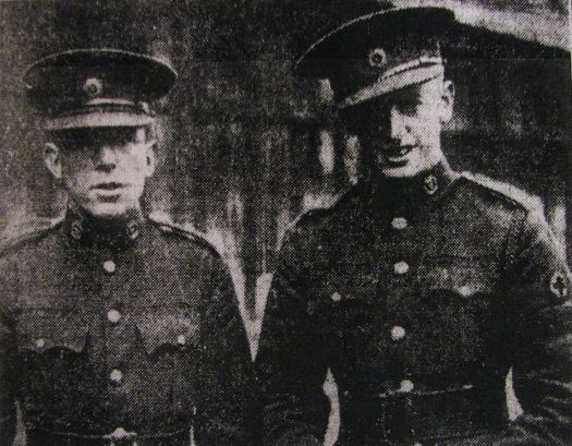 Pte Radley and Cpl Glanville