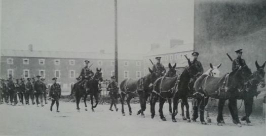 British troops pulling out of Victoria Barracks (Collins Barracks), 1921.