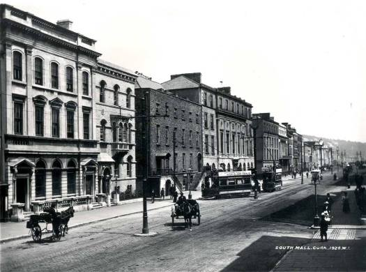 Electric Trams on South Mall, Cork