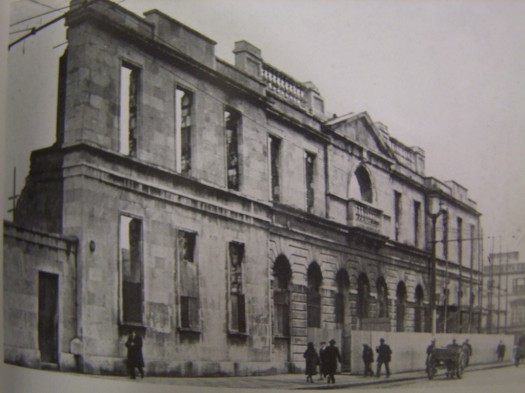 Ruins of the old Cork City Hall