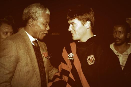 Roy Keane meets Nelson Mandela