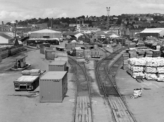 While altered from W6871 : Cork, Albert Quay Goods Yard, this was still recognisably as the Cork Bandon & South Coast Railway left the facility when passenger services were withdrawn by CIE on 1 April 1961.