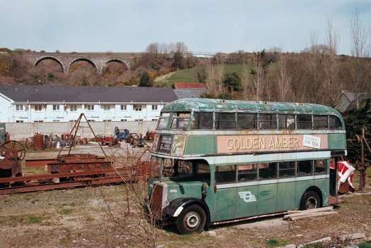 Leyland Titan, R827 in Half Way